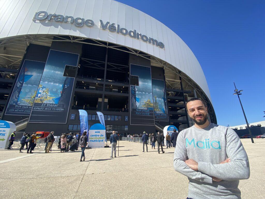 Maiia assure la prise de RDV en ligne pour la vaccination au stade Vélodrome !